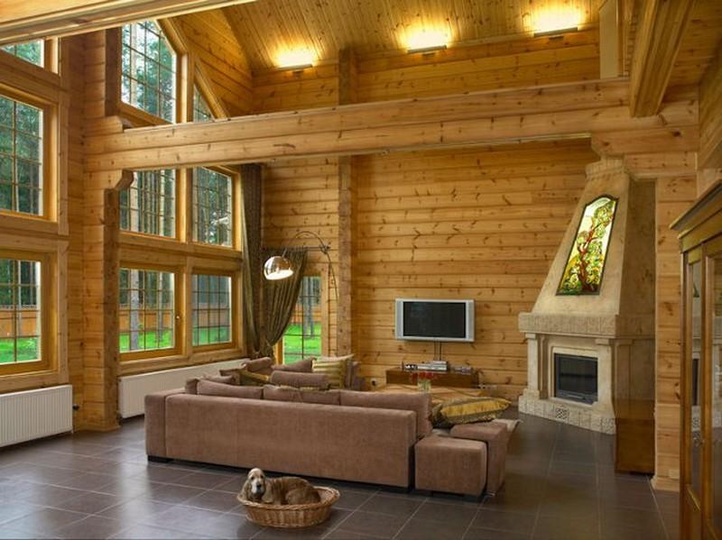 Загородный дом из дерева планировка и дизайн интерьера фото