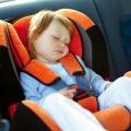 baby girl  in car