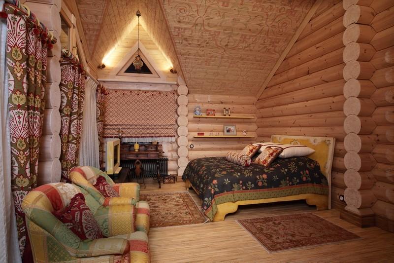 Как украсить комнату в деревянном доме своими руками 83