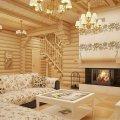 интерьера деревянного дома и особенности декорирования 13