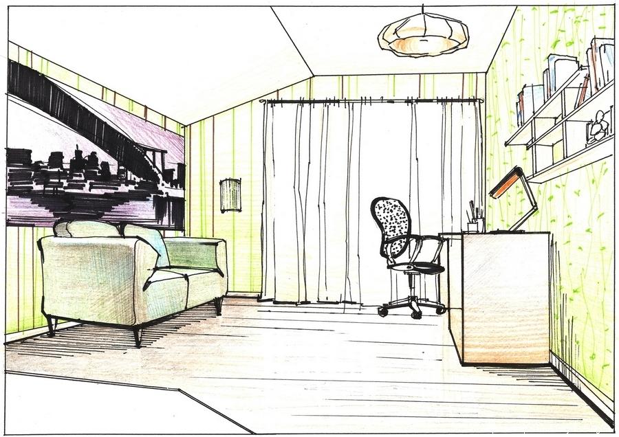 Дизайн кімнати малюнки