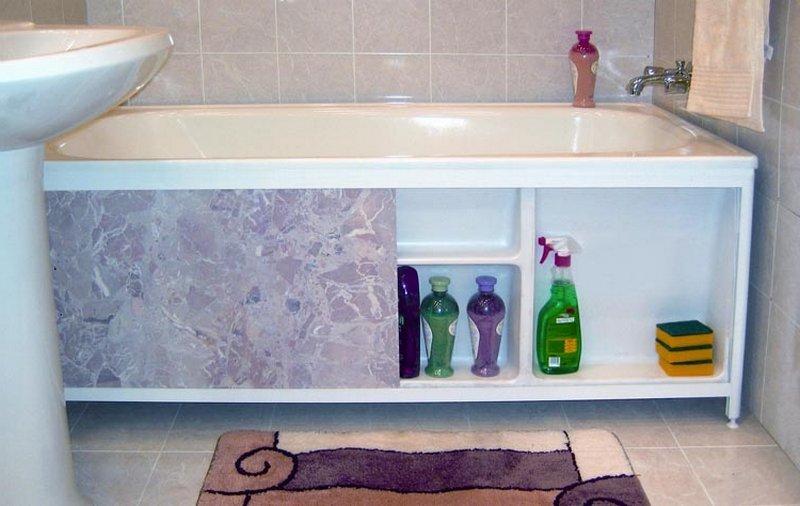 Как установить экран для ванной фото
