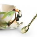 Красивые чайные чашки   лепной китайский фарфор