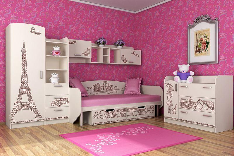 Дизайн детской комната для двоих девочек фото