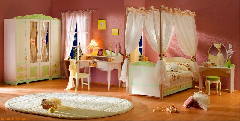 Красивые детские комнаты для девочек