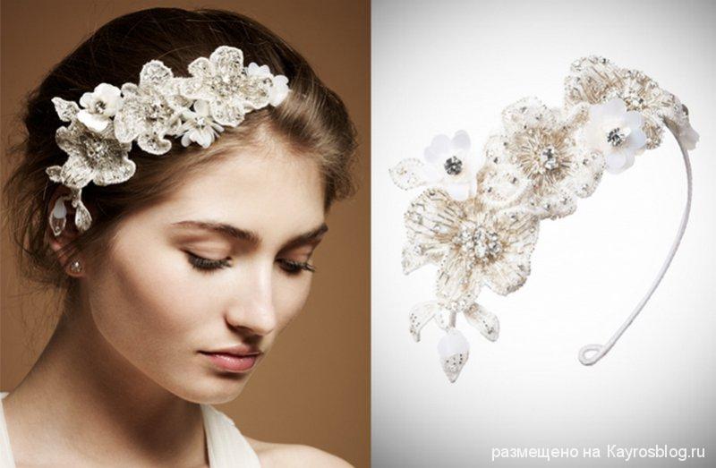Свадебные украшения для невесты на голову