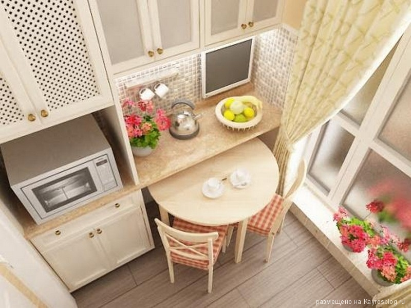 Идеи для дизайна маленькой кухни фото