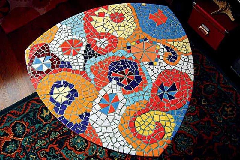 Мозаика из кусочков плитки своими руками фото