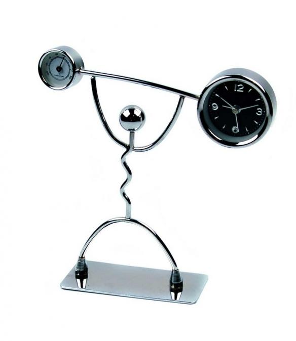 Часы офисные настольные Штангист