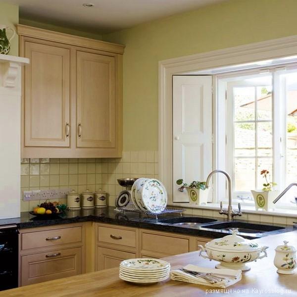 Дизайн кухни 15 кв м с окном в частном доме