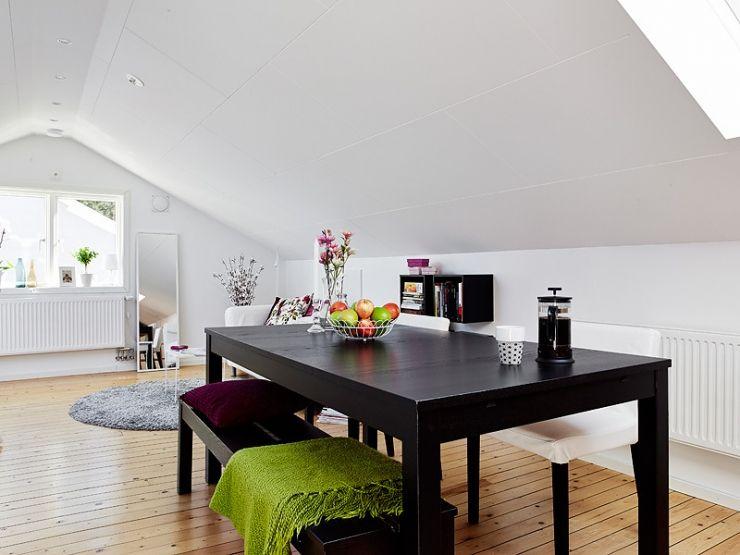 Скандинавский стиль для чердачной квартиры