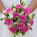 букет от мужчины в день свадьбы, неожиданный сюрприз любимой 4