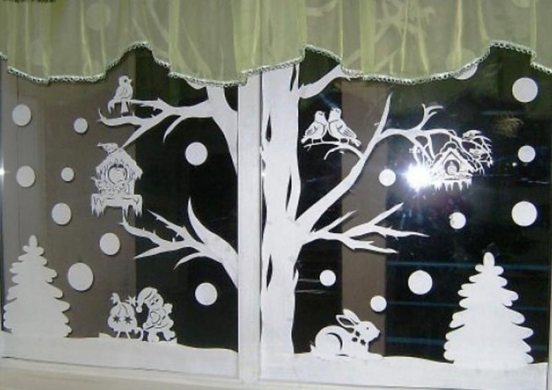 Украшение новогоднее на окно