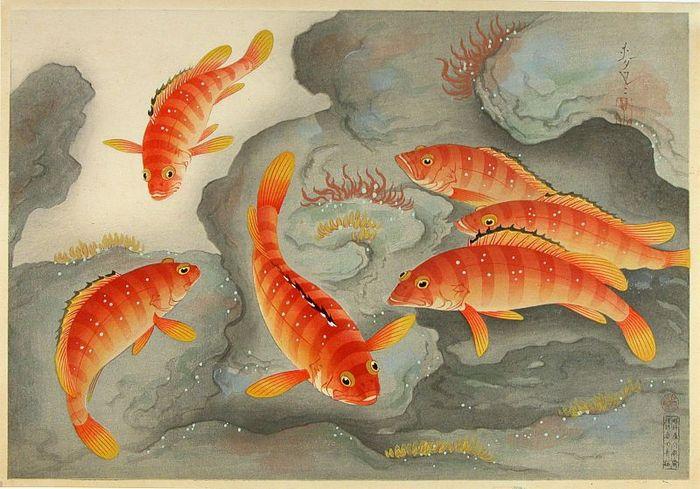 Японская гравюра укиё-эю от Бакуфу Оно