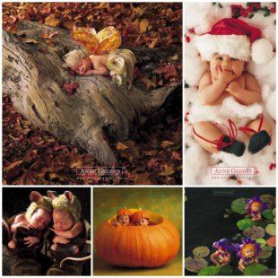 Фотоработы Anne Geddes - спящие малыши