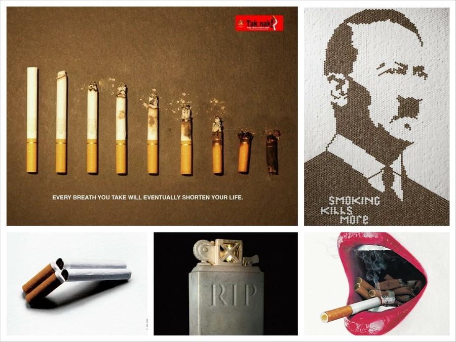 Креативная социальная реклама против курения
