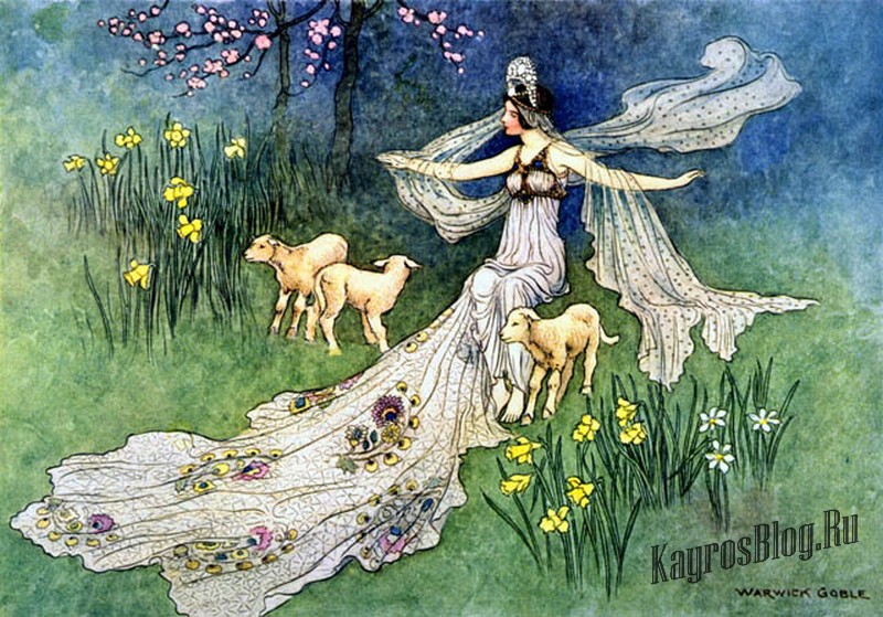 """""""Woodcutter's Daughter"""" Warwick Goble"""