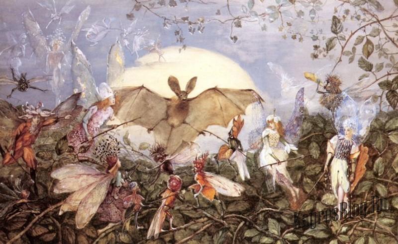 """Fairy Hordes Attacking А Bat"" John Anster Fitzgerald"