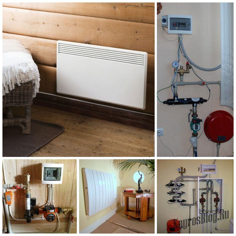 Электрическое отопление для обогрева загородного дома