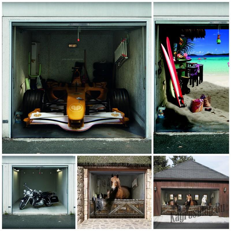 Прикольные наклейки на двери гаража