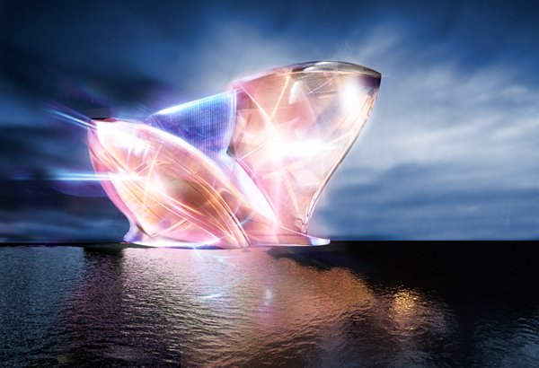 Sven Sauer - дизайн для футуристического проекта Blue Crystal.