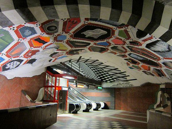 Интерьер одной из станций Стокгольмского метро