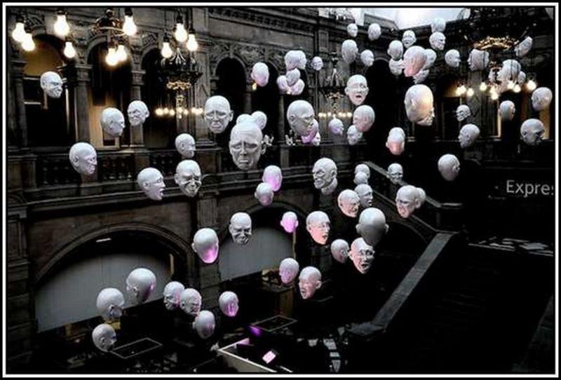"""""""Летающие головы"""" от Софи Кэйв (Sophie Cave)"""