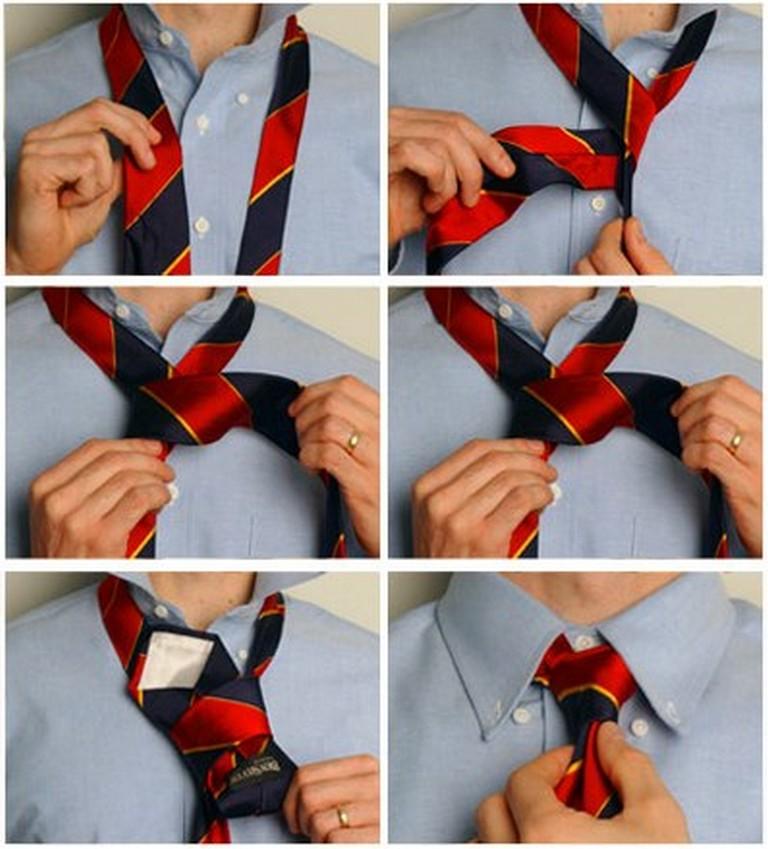 Как завязывать галстук фото самый легкий способ