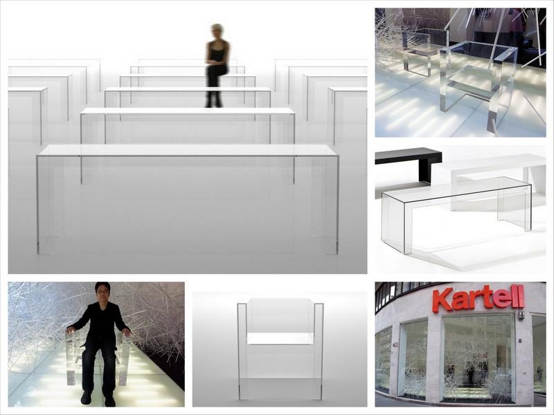 Прозрачная мебель от Tokujin Yoshioka