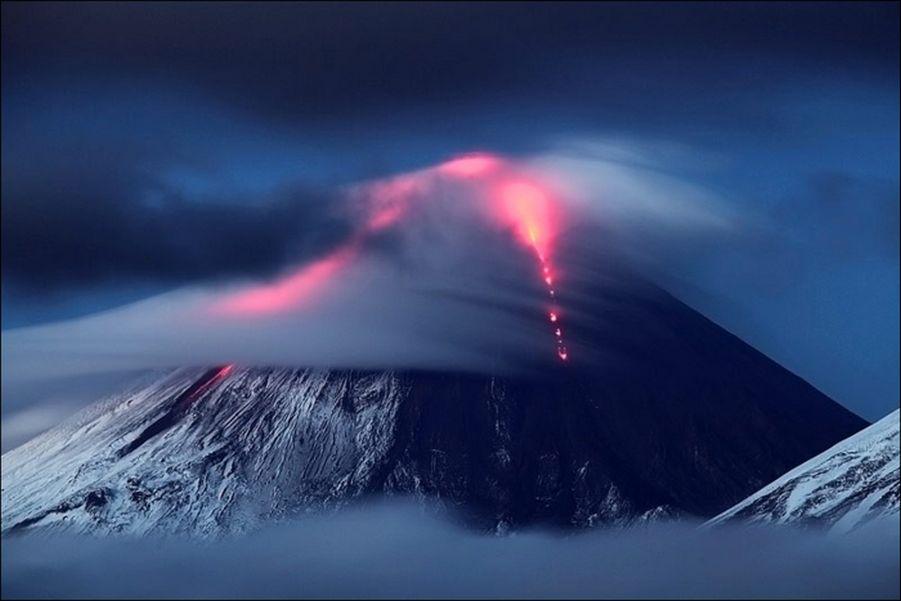 Извержение вулкана Ключевская сопка – фоторепортаж