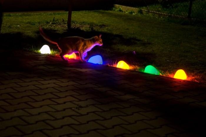 Декоративные светящиеся камни 1