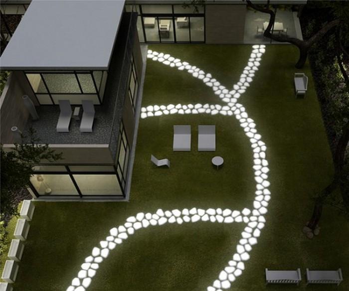 Декоративные светящиеся камни 2