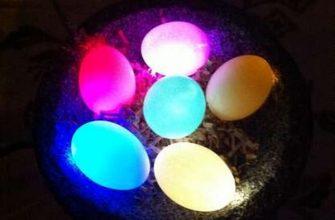 Светящиеся L.E.D. пасхальные яйца своими руками