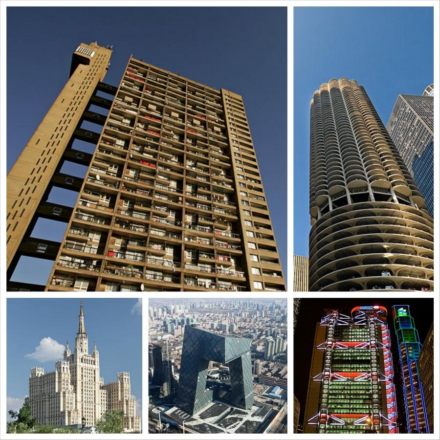 ТОП 10 - лучшие небоскребы мира