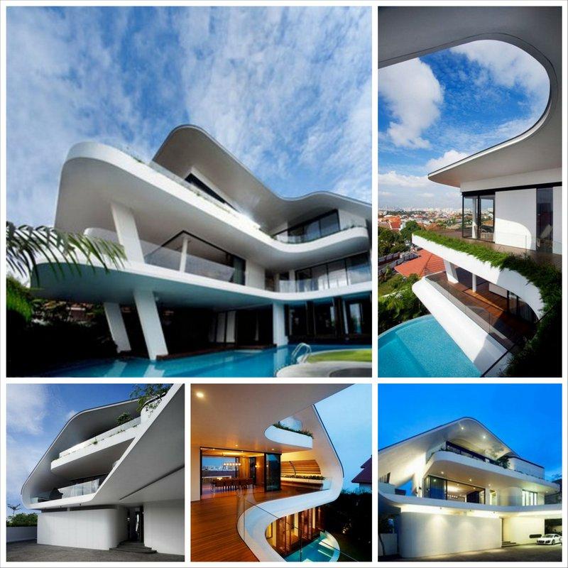 Cовременный дом в Сингапуре