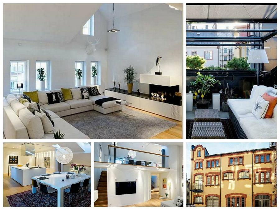 Двухуровневые квартиры - вариант из Швеции