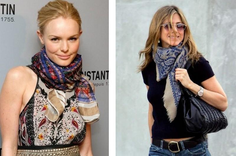 Аксессуары к платью шарф