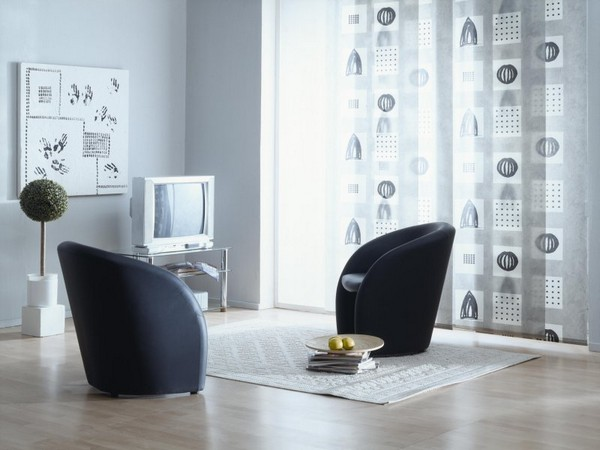 Стильные японские шторы в интерьере вашего дома