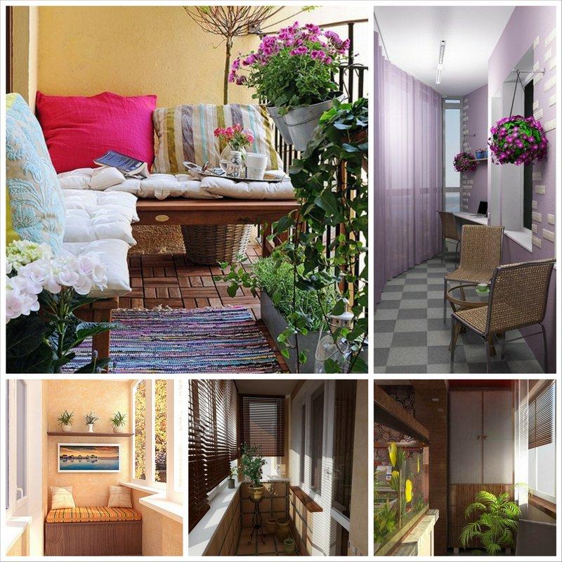 Балконы - советы по преображению интерьера