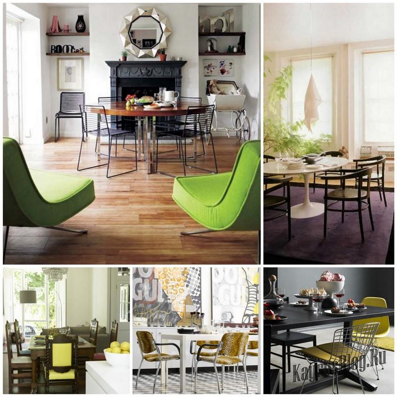 Идеи оформления интерьера столовой-гостинной