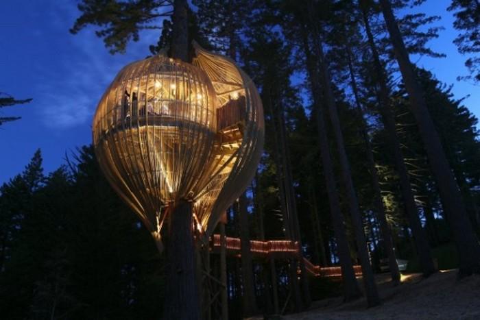 Ресторан на дереве Yellow Treehouse в Окленде