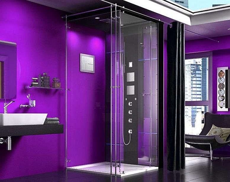 комнатах в ванных фото интерьер душевых кабин
