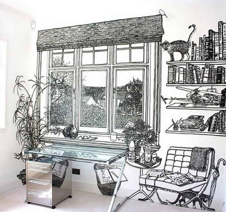 Роспись стен от британской художницы Шарлотт Манн (Charlotte Mann)