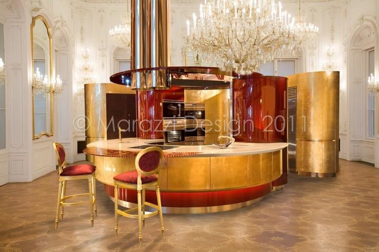 Самая дорогая кухня в мире - Colosseo Oro от студии Marazzi Design