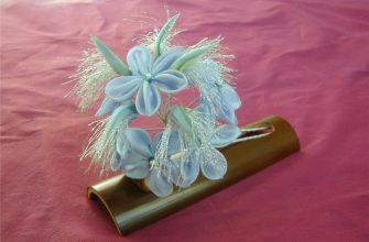 Японские цветы канзаши