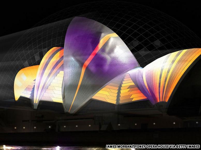 Красочный фестиваль света 2012 в Сиднее