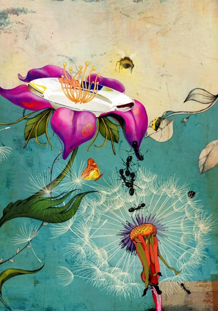 Красочные фэшн иллюстрации Linn Olofsdotter