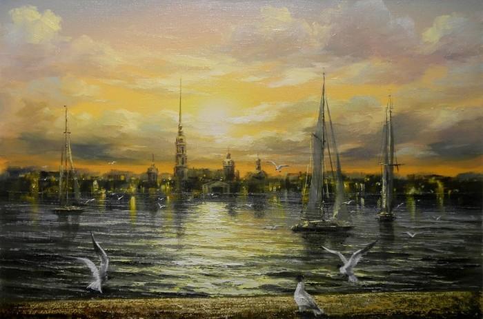 Петербургский городской пейзаж