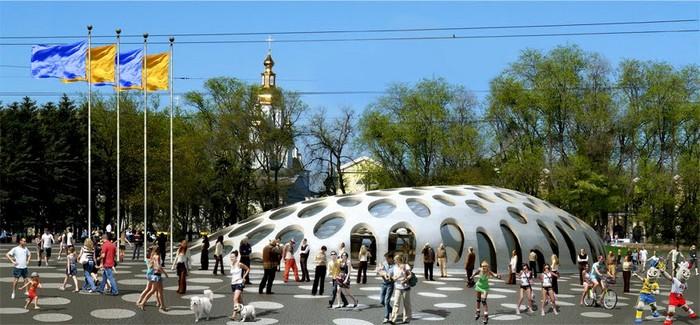 Современная архитектура Харькова - проект площади Конституции