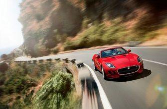 Красивый родстер Jaguar F-Type образца 2012 года